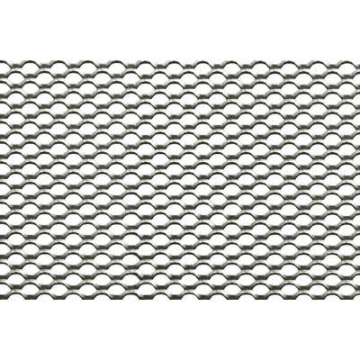 EXPANDÁLT LEMEZ /10x7x1.3x0.8 mm / 1000x2000 mm / horganyzott acél / körszem vh.