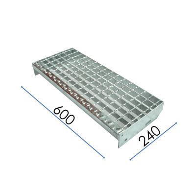LÉPCSŐELEM / SP 230-34-38-3 / 600x240 mm / S235JR horganyzott acél