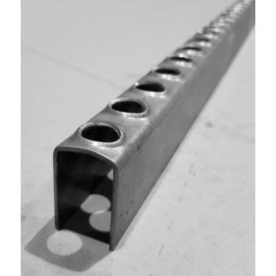 LEMEZPROFIL / Létrafok / 25x39x2 mm / hossz 800 mm / egyenes véggel / acél