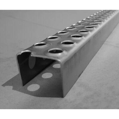 LEMEZPROFIL / Létrafok / 50x39x2 mm / hossz 2000 mm / egyenes végzárás / acél