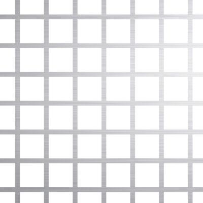PERFORÁLT LEMEZ / QG 10-12 / 1 mm / 1000x2000 mm / 1.4301 rozsdamentes acél