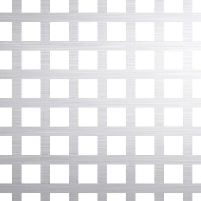 PERFORÁLT LEMEZ / QG 8-12 / 1,5 mm / 1000x2000 mm / 1.4301 rozsdamentes acél